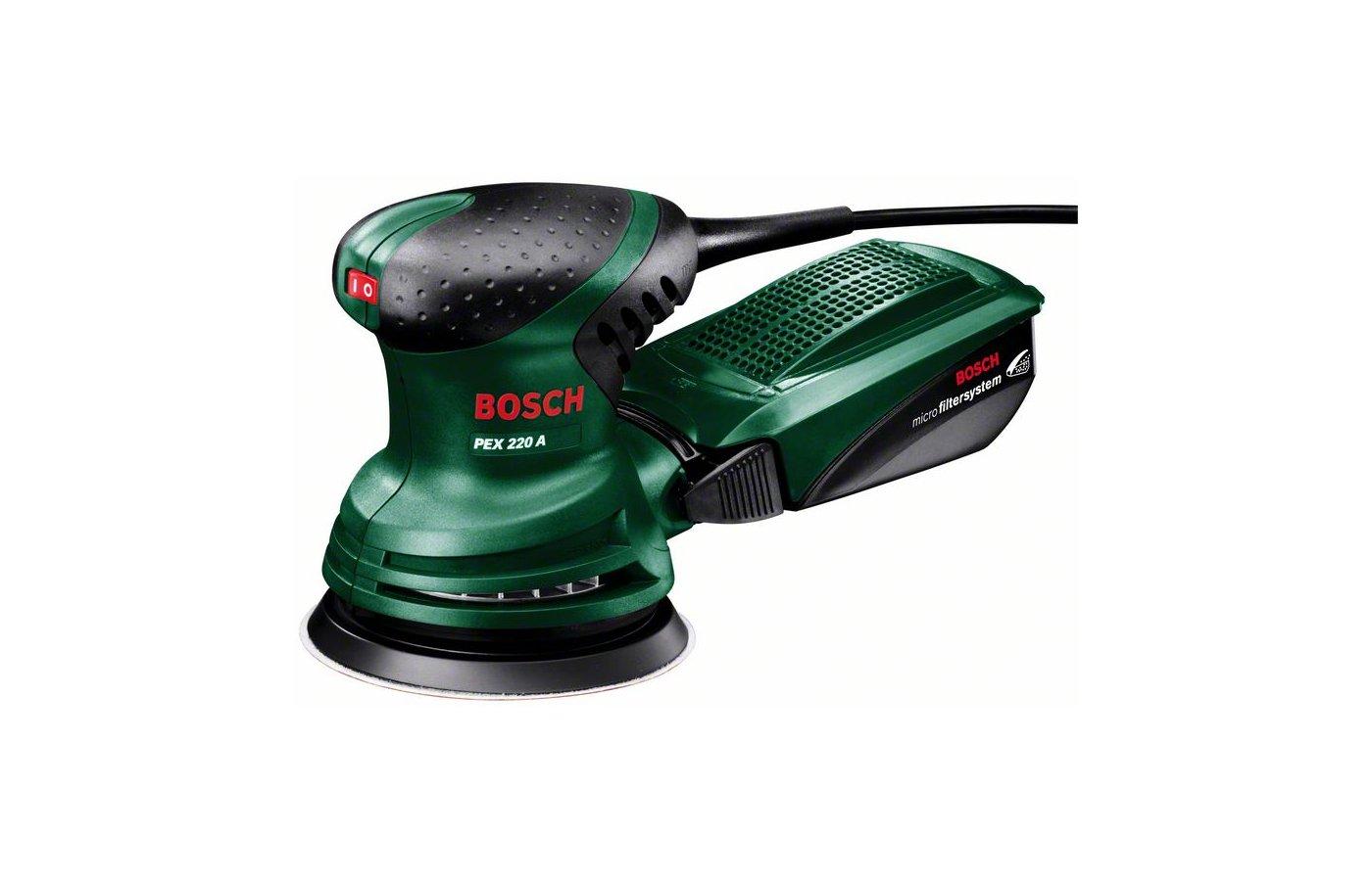 Эксцентриковая шлифовальная машина BOSCH PEX 220 A