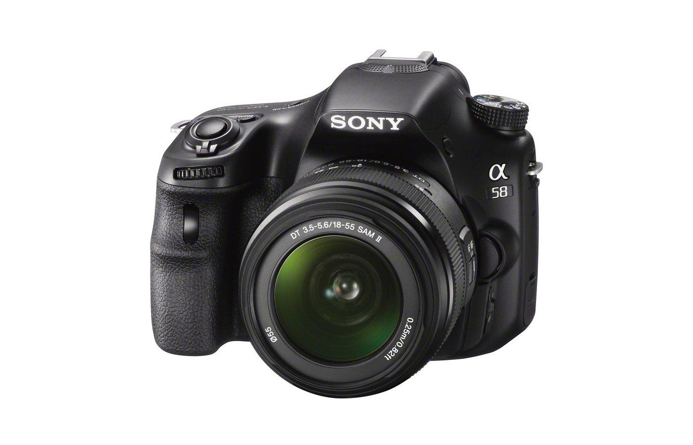 Фотоаппарат зеркальный SONY Alpha SLT-A58K 18-55