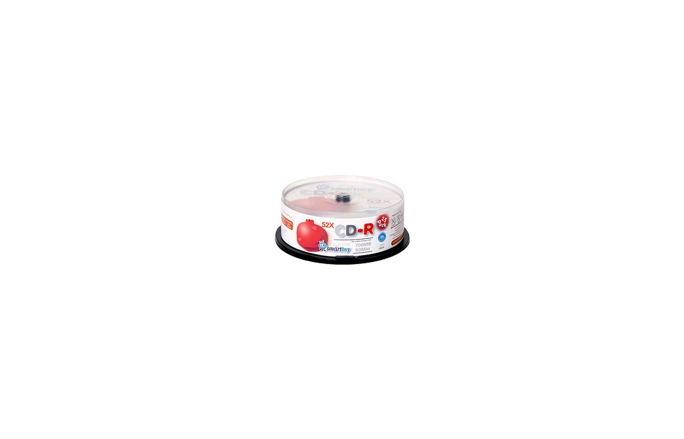 CD-диск Диск CD-R SMART BAY 700Мb 80мин 52x Fresh-Lemon Slim (за 1 диск)