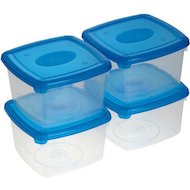 Фото контейнеры для продуктов Plast Team 9972 (1092) Набор емкостей 4шт 0.46л