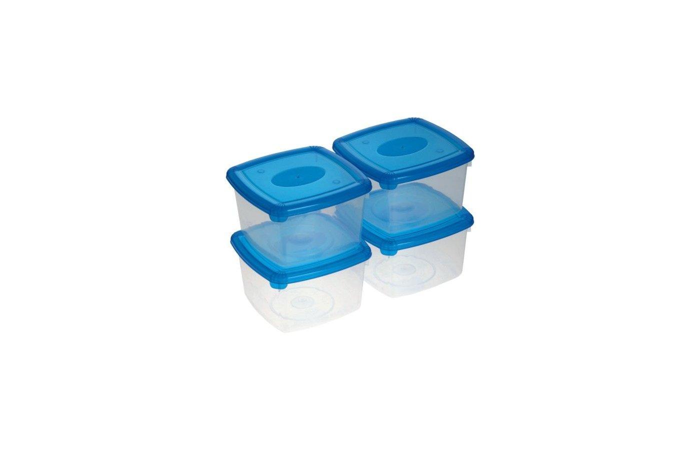 контейнеры для продуктов Plast Team 9972 (1092) Набор емкостей 4шт 0.46л