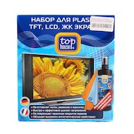 Фото Чистящие средства TOP HOUSE 236586 наб. д/ухода за PLAZMA LCD TFT и ЖК экранами 3 пр. спец. очистит. 250 мл+ 2 салф.