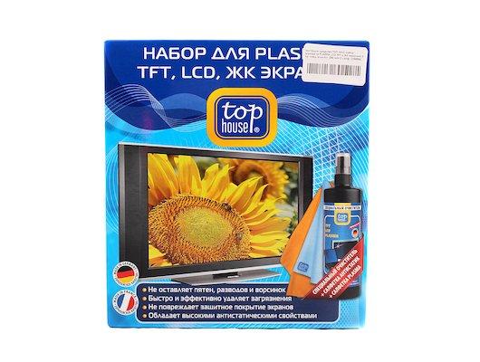 Чистящие средства TOP HOUSE 236586 наб. д/ухода за PLAZMA LCD TFT и ЖК экранами 3 пр. спец. очистит. 250 мл+ 2 салф.