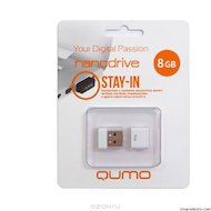 Флеш-диск USB 2.0 QUMO 8GB Nano White