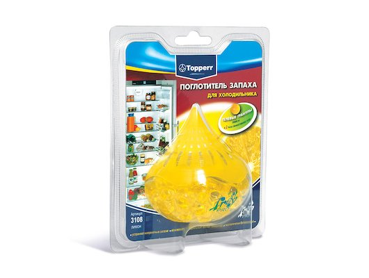 Аксессуар к холодильникам TOPPERR 3108 Поглотитель запаха д/холодильника Лимон