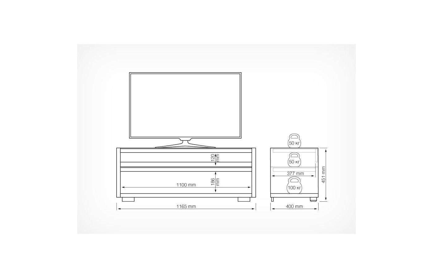 Телемебель Holder стол TV-31110 черный