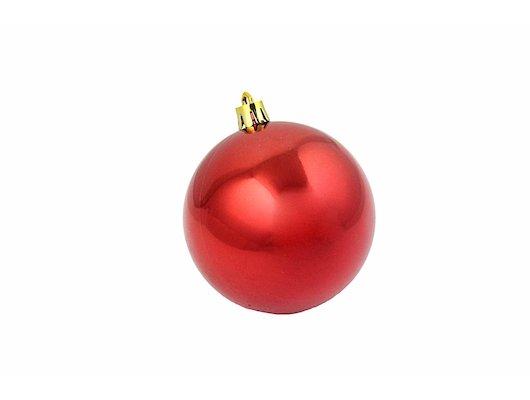 Игрушка Сноу Бум Шары пластик 8см 6шт красный 375-097