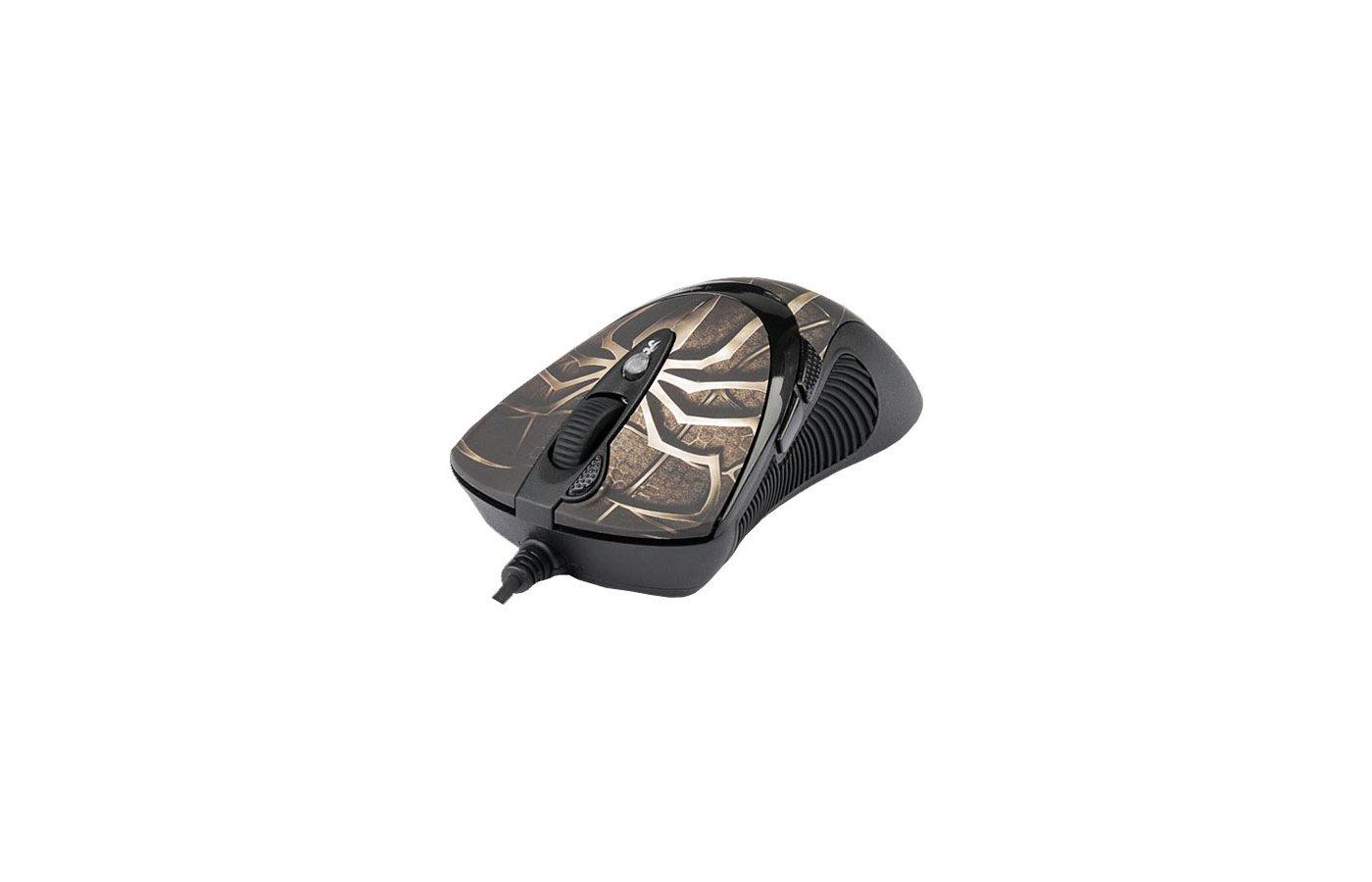 Мышь проводная A4Tech XL-747H Brown Spider USB Anti-Vibrate