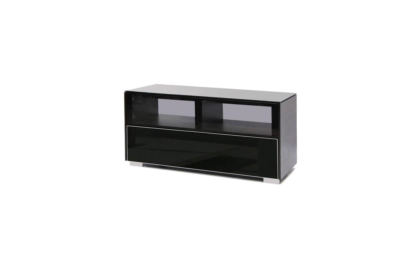 Телемебель Holder PL-22110 венге+черн.стекло