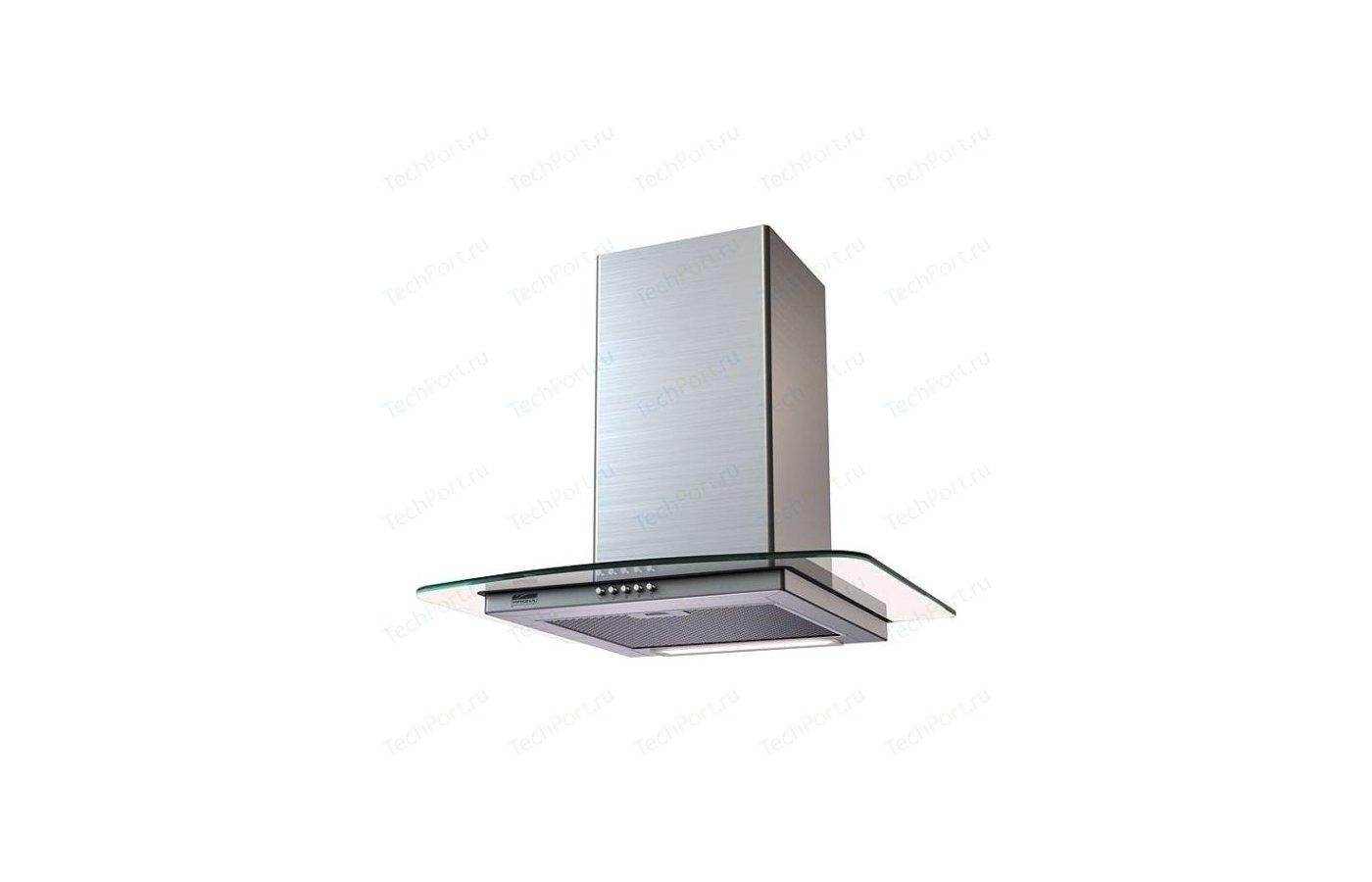Вытяжка KRONA Jasmin 600 inox/glass push button
