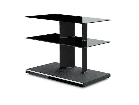 Телемебель Holder TV-2480 черный+черн. стекло