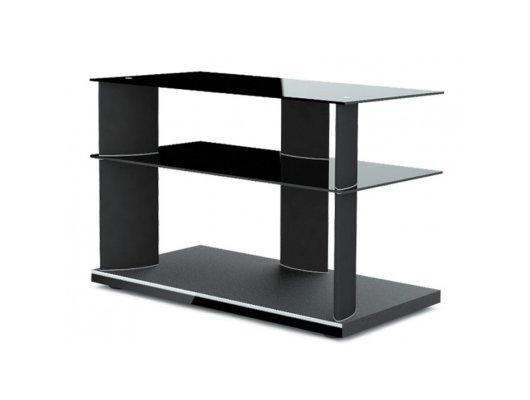 Телемебель Holder TV-2680 черный+черн. стекло