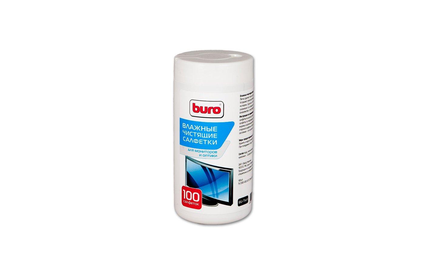 Чистящее средство BURO BU-Tscrl туба с чистящ.салф. для LCD TFT-мон. 100 ш