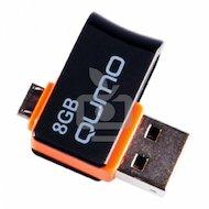 Флеш-диск USB 2.0 QUMO 8GB Hybrid MicroUSB (QM8GUD-Hyb)