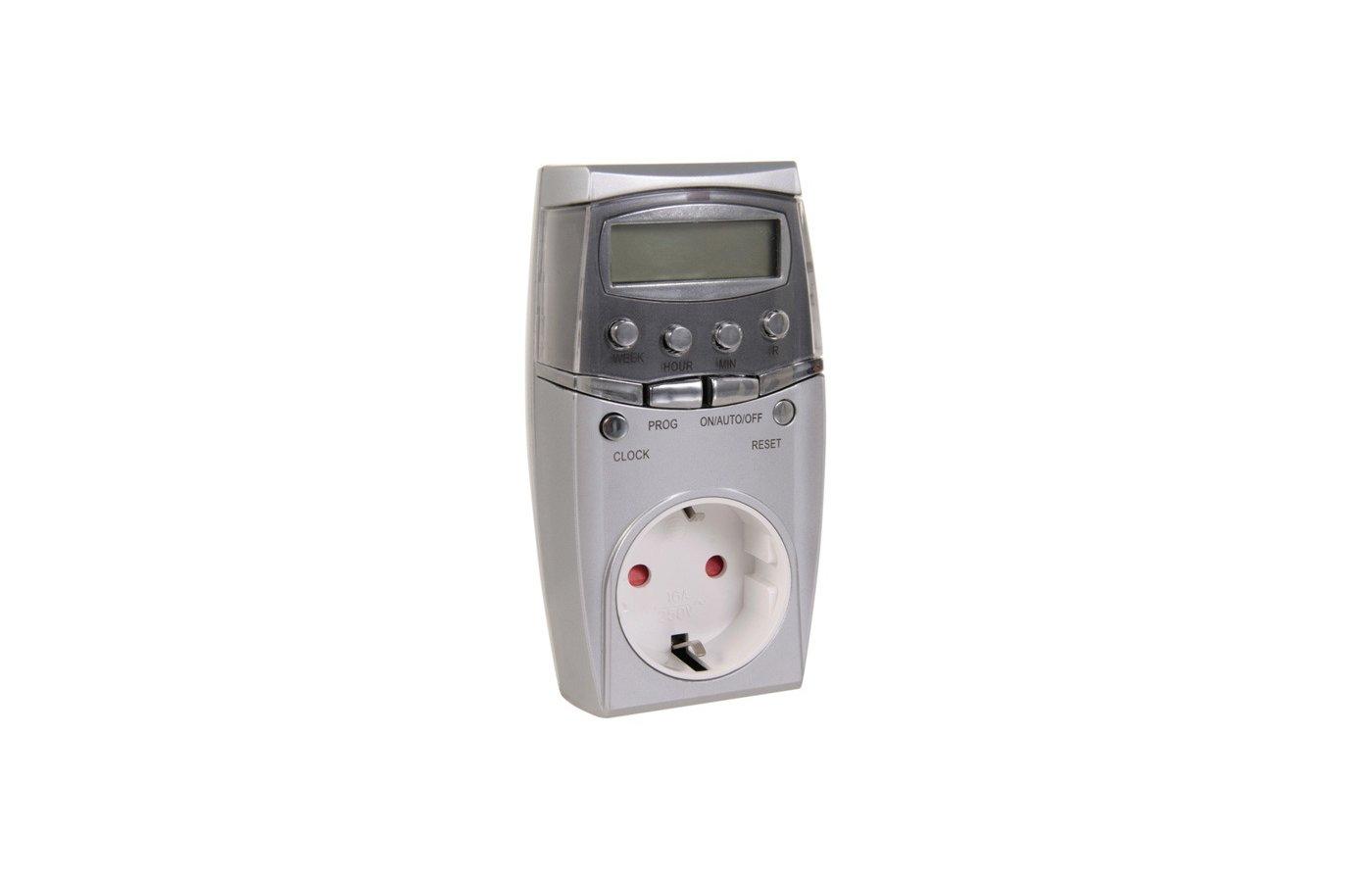 прибор для управления освещением Camelion BND-50/SG65 (Таймер цифровой розеточный, 7-дневная программа, 230/3500Вт)
