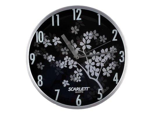 Часы настенные Scarlett 33D плавный ход Металл
