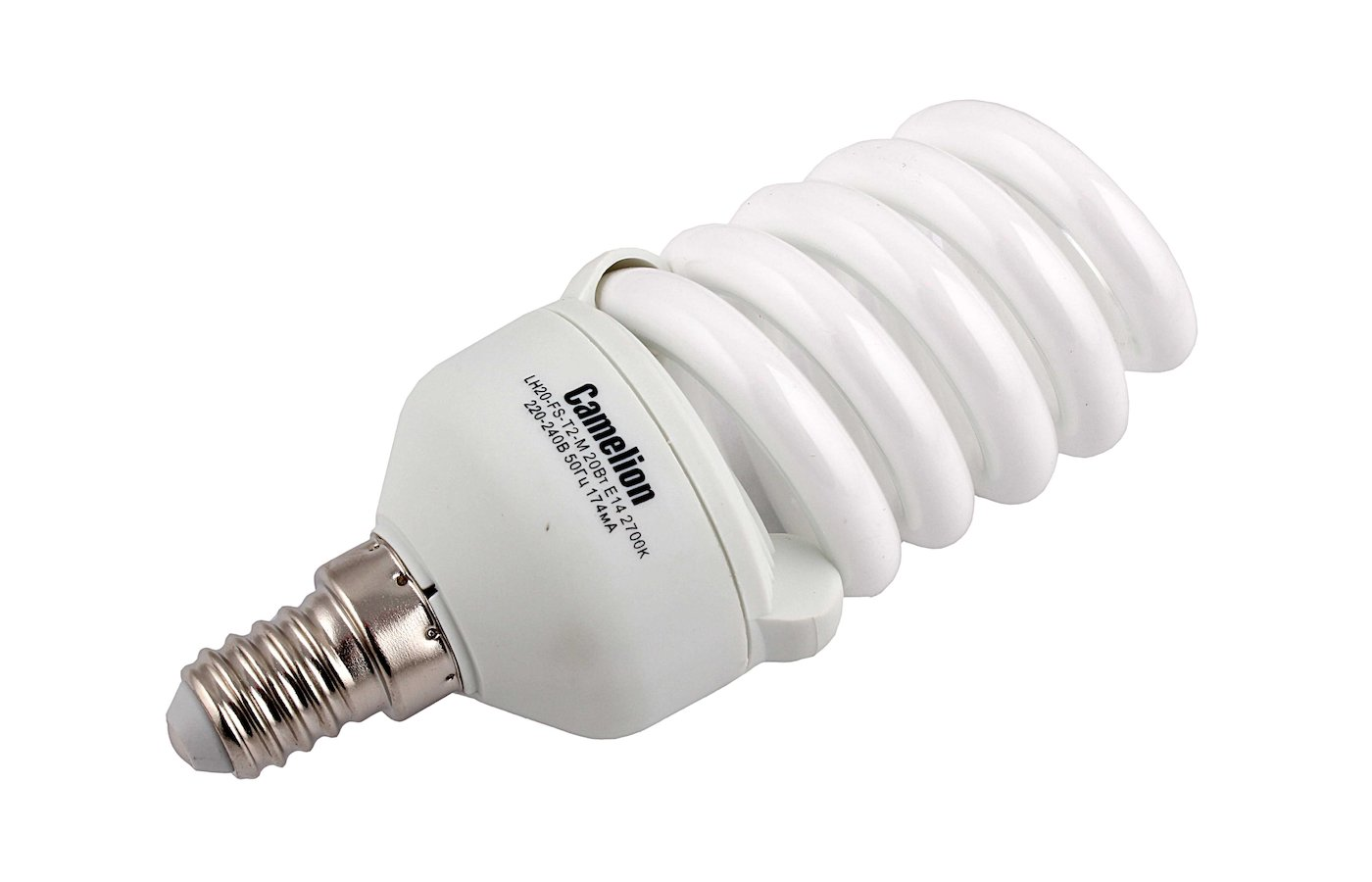 Лампочки энергосберегающие Camelion LH20-FS-T2-M/827/E14 (энергосбер.лампа 20Вт 220В)