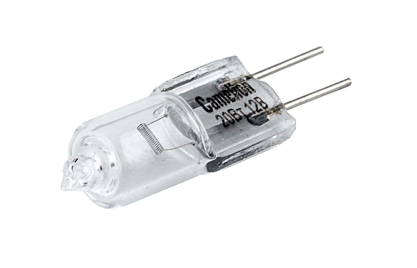 Лампочки галогеновые Camelion JC 20W g4 12V (Эл.лампа галоген.без рефлектора)