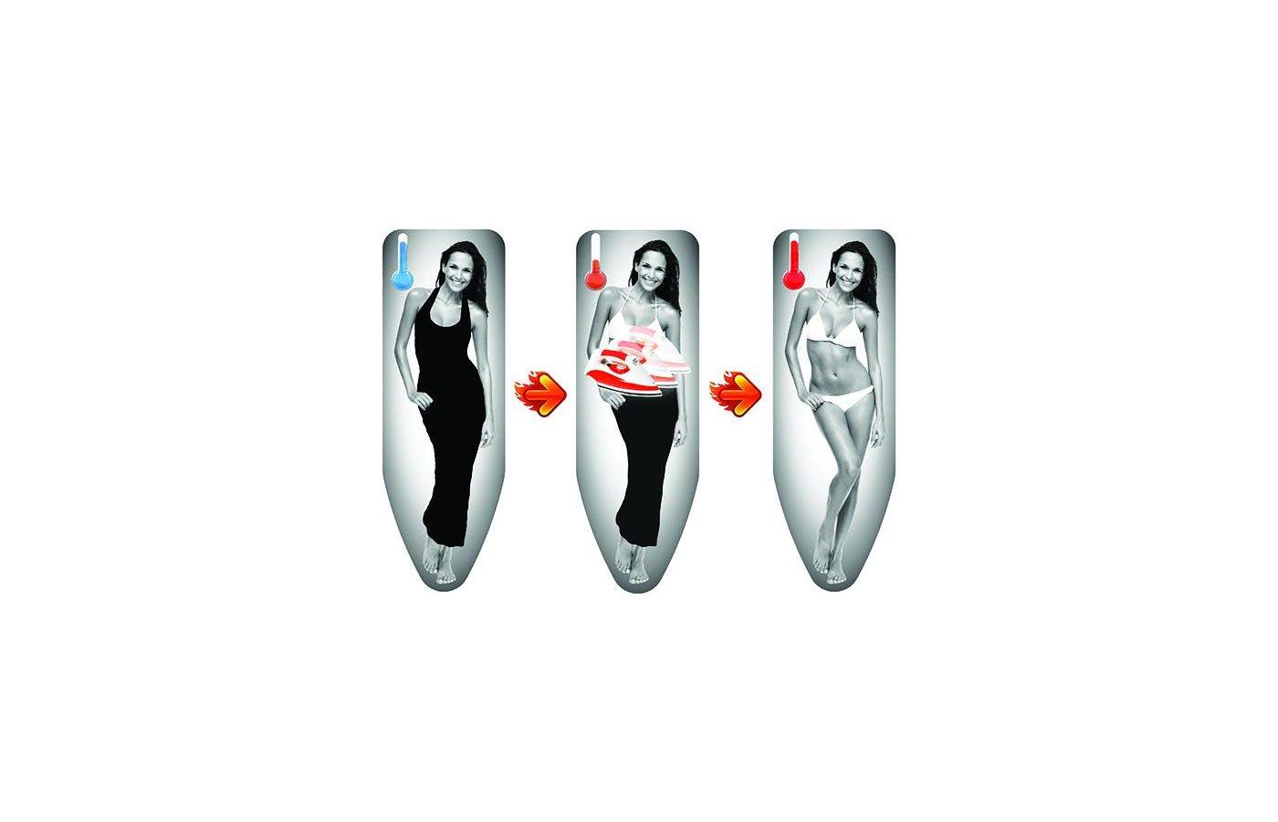 Чехлы и принадлежности для глажки Colombo Чехол д/гл.доски с терморисунком Girl 140х55см