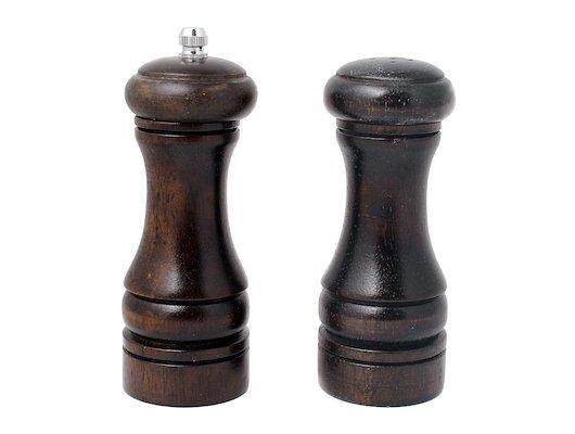 набор для специй VETTA 827-035 Набор для специй 2пр. мельница 14см + солонка 13см деревянный