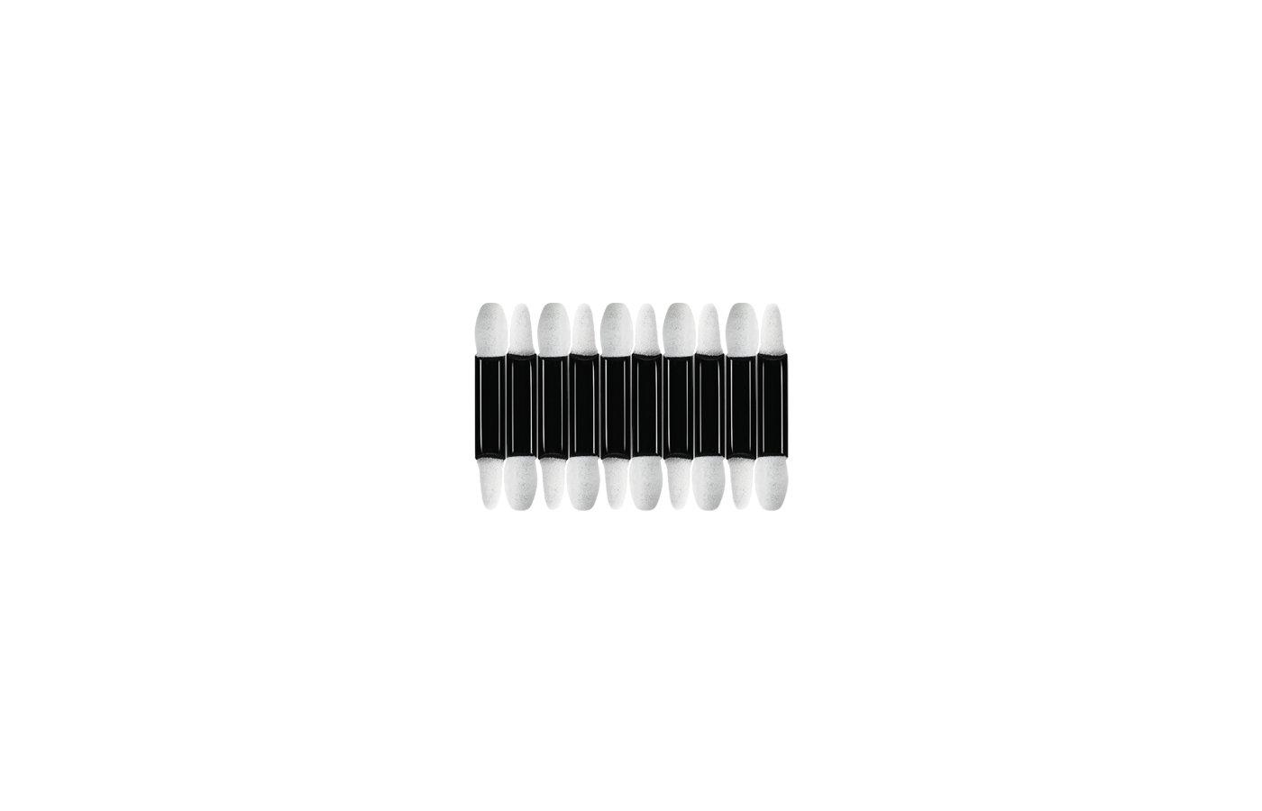 Приборы для маникюра и макияжа QVS 1106 Аппликаторы д/макияжа глаз двусторонние наконеч. из губки (10 шт.)