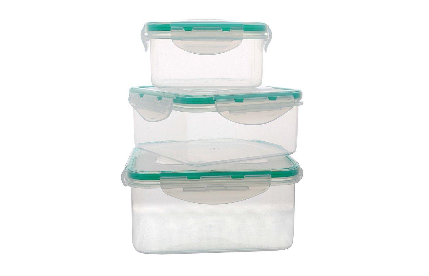 Пластиковая посуда для СВЧ EXCOOK 6508 Набор контейнеров (3шт)