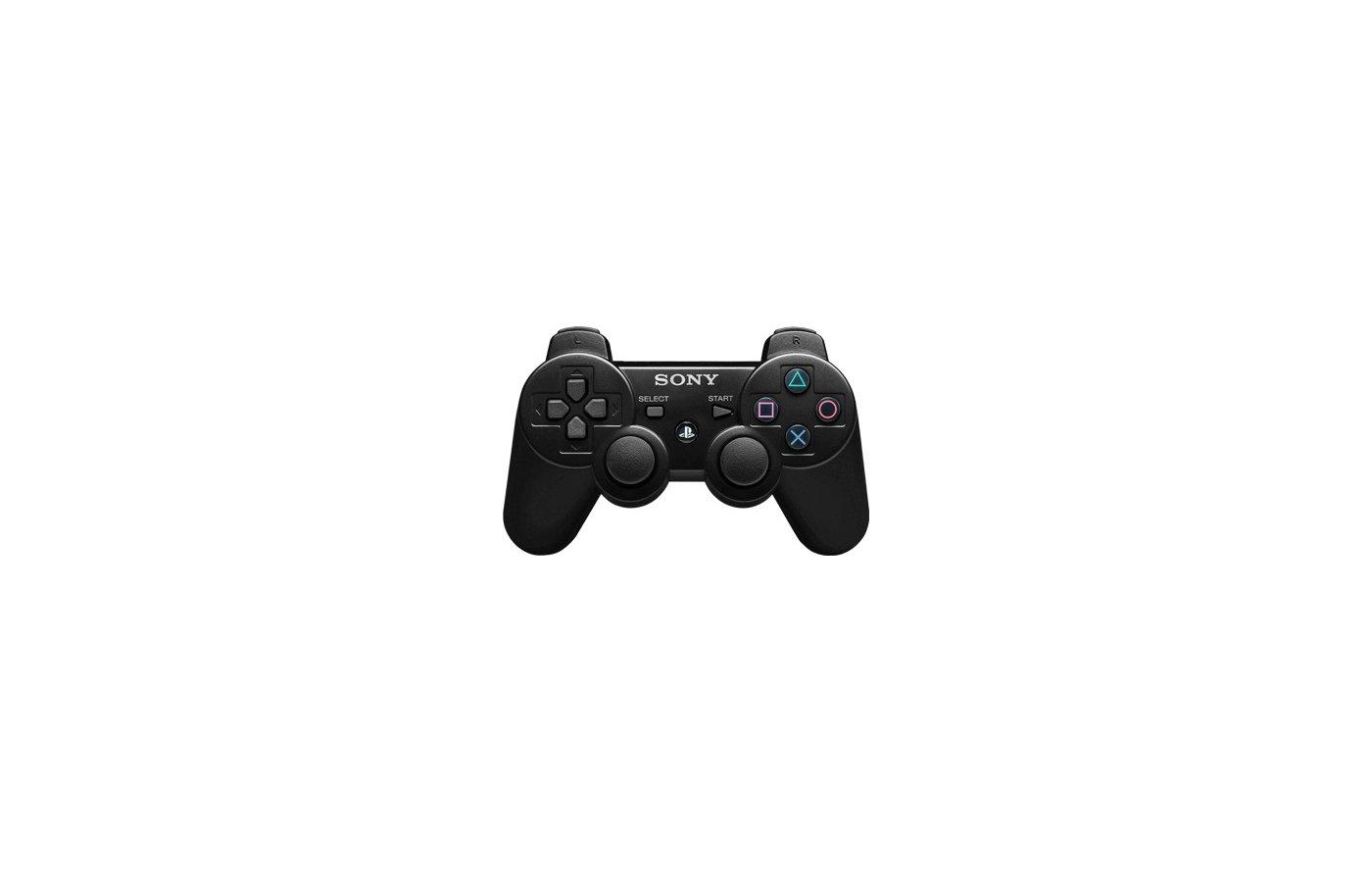 PS3: Контроллер игровой беспроводной черный (Dualshock Wireless Controller Black)