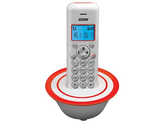 Радиотелефон BBK BKD-815RU белый/оранжевый