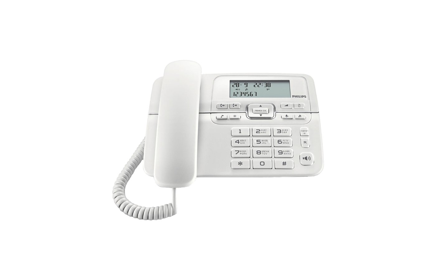 Проводной телефон Philips CRD200W