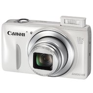 Фото Фотоаппарат компактный CANON PowerShot SX600 HS white