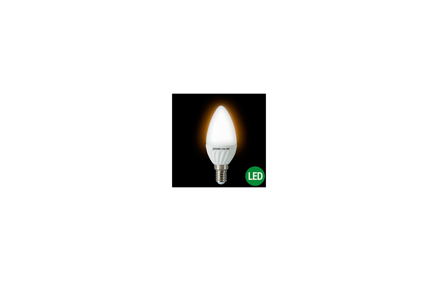 Лампочки LED Gauss LED Candle Crystal clear 3W E14 4100K