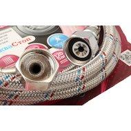 Фото Аксессуары для подключения стиральных машин HELFER HLR0075 шланг наливной с клапаном АкваСтоп для с/м 3м.