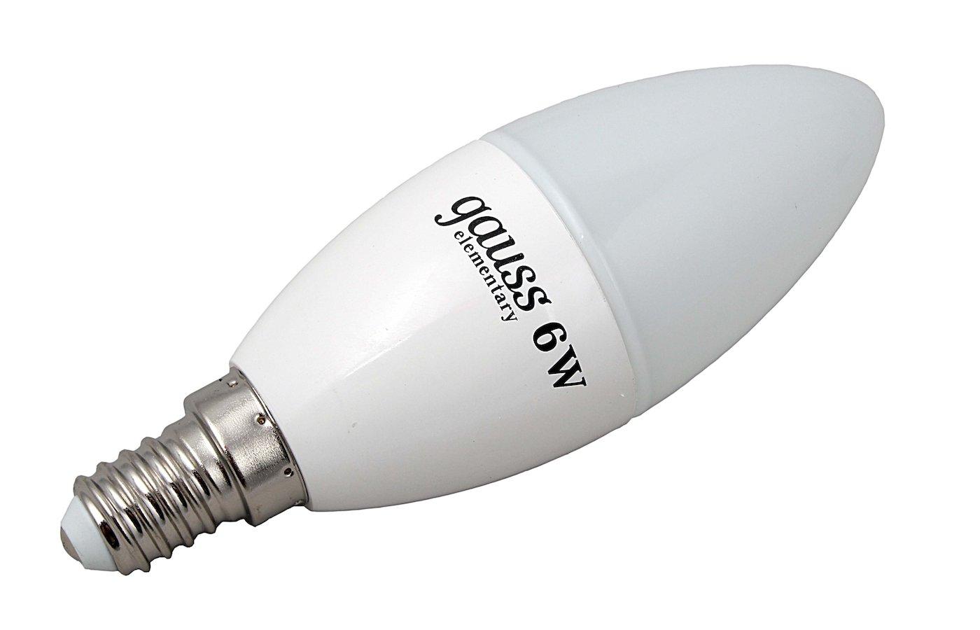 Лампочки LED Gauss LED Elementary Candle 6W E14 2700K