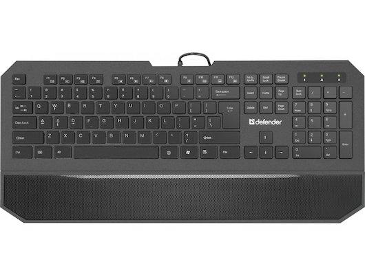 Клавиатура проводная Defender Oscar SM-600 Pro Black USB