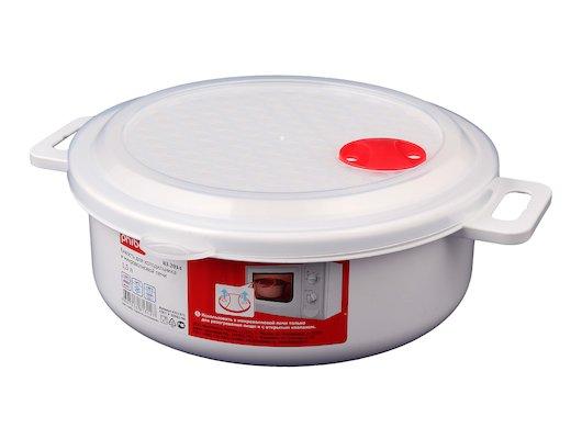 Пластиковая посуда для СВЧ БЫТПЛАСТ 4311373 емкость д/СВЧ 23 см 2л