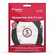Фото Удлинитель BELSIS BL 1034 Jack 3.5(m) - Jack 3.5(f) 5м.