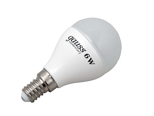 Лампочки LED Gauss LED Elementary Globe 6W E14 4100K