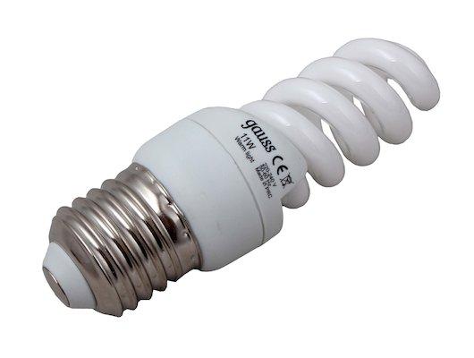 Лампочки энергосберегающие Gauss Spiral T2 11W 2700K E27