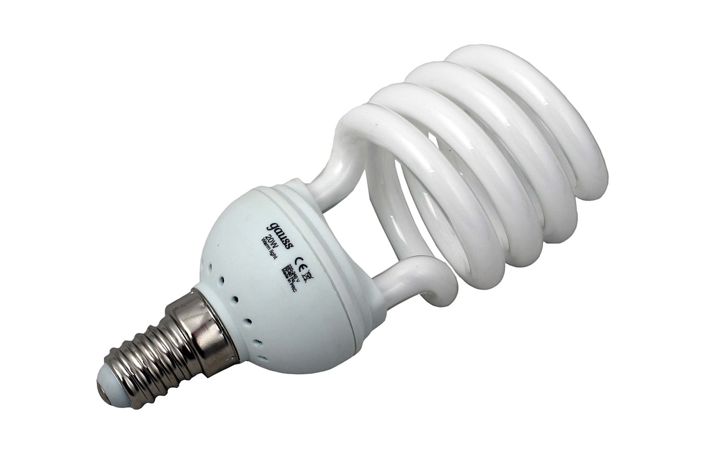 Лампочки энергосберегающие Gauss Spiral T2 20W 2700K E14