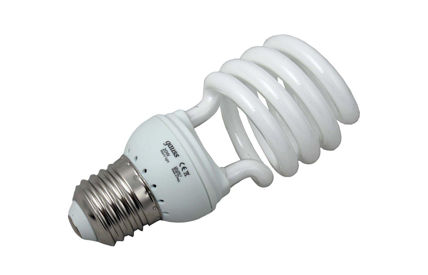 Лампочки энергосберегающие Gauss Spiral T2 20W 2700K E27