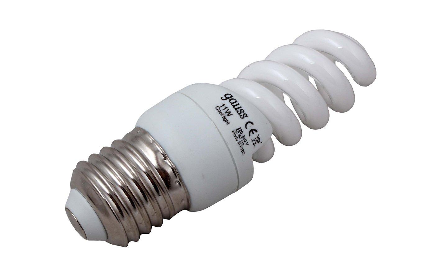 Лампочки энергосберегающие Gauss Spiral T2 11W 4200K E27