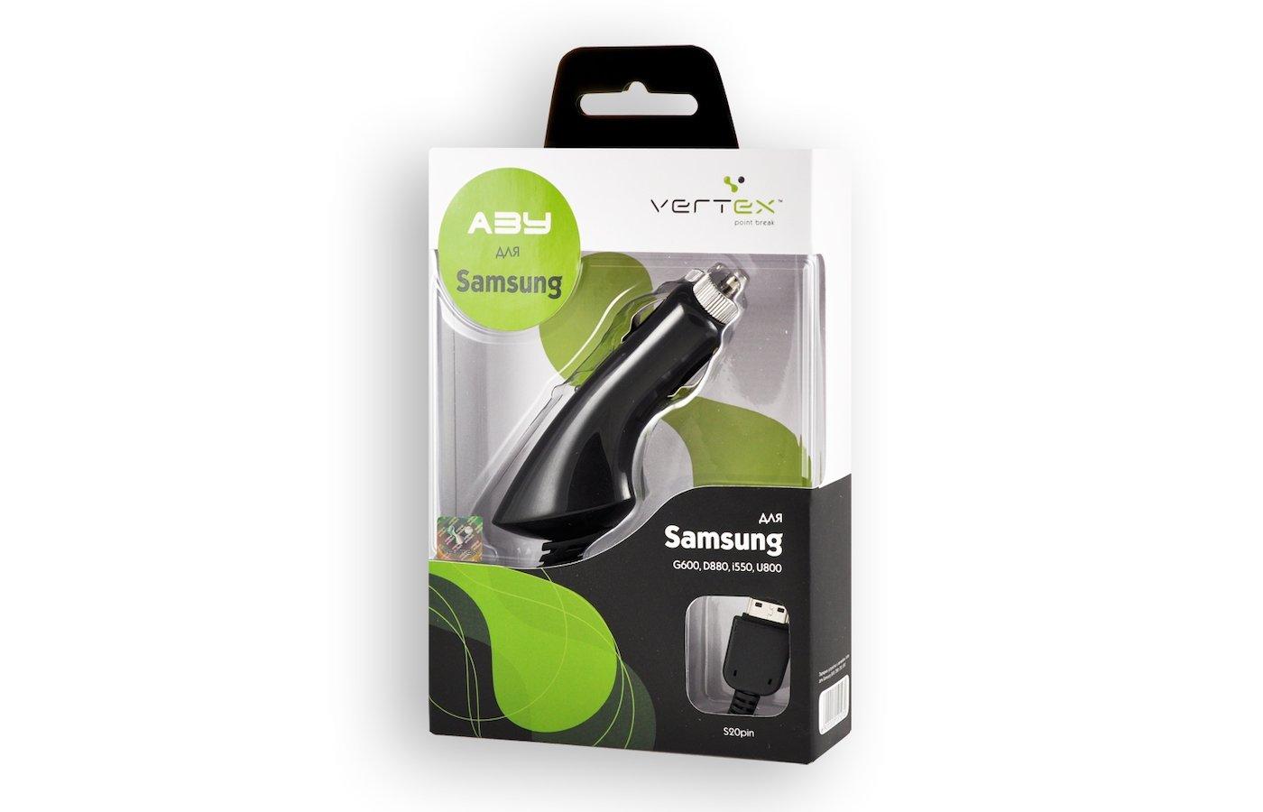 Зарядное устройство VERTEX АЗУ s20pin для Samsung D880/G600/i550/U800