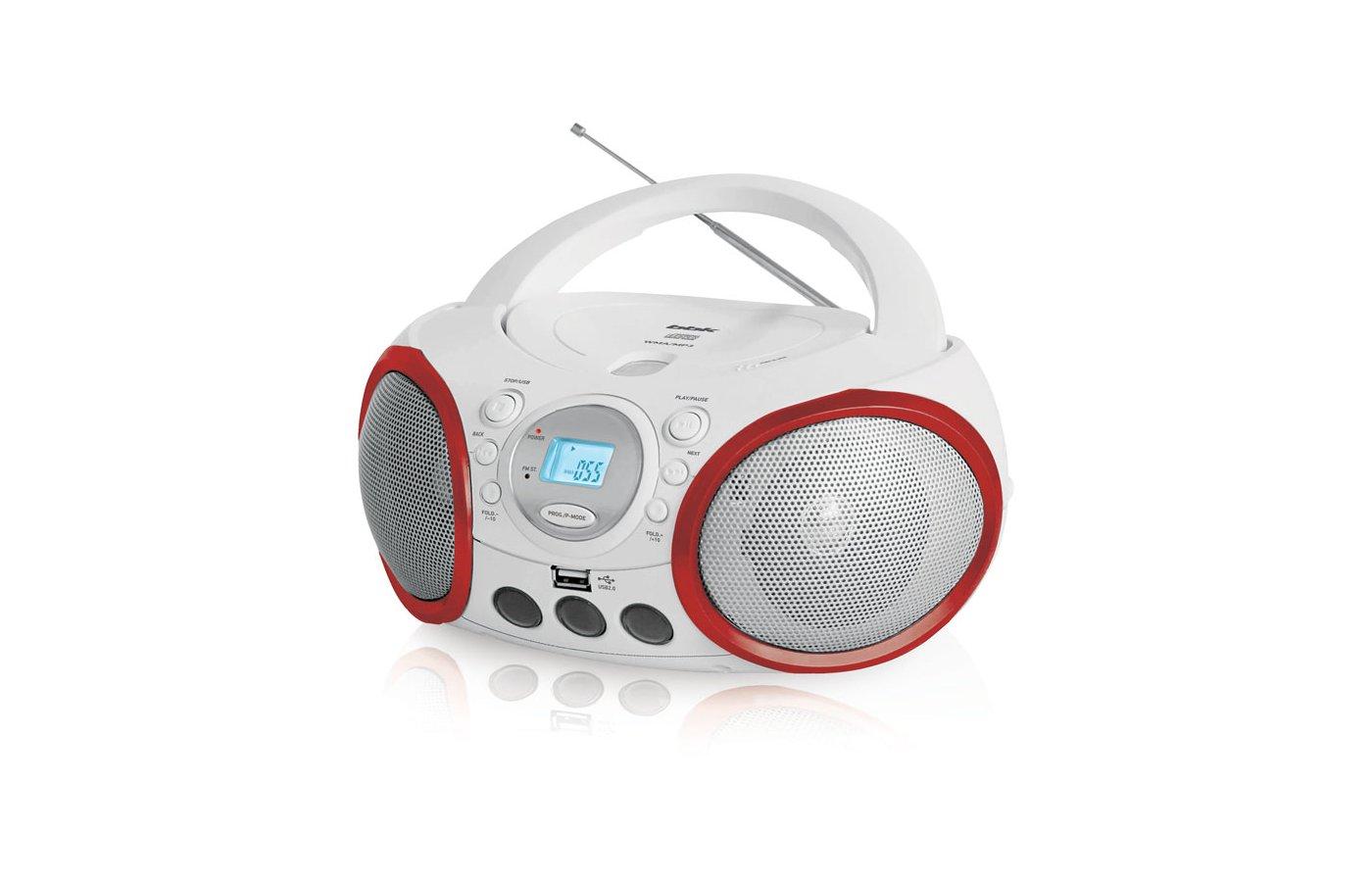 Магнитола BBK BX-150U белый/красный