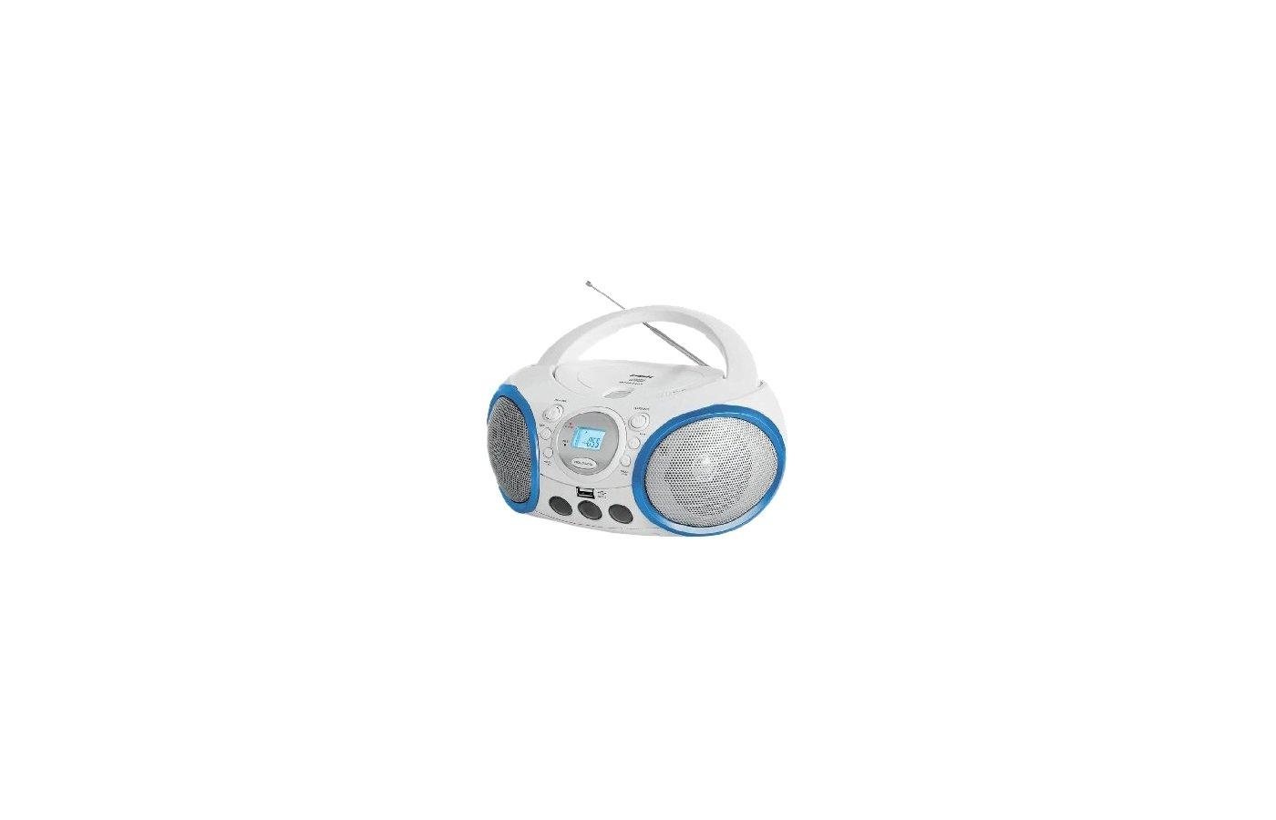 Магнитола BBK BX-150U белый/синий