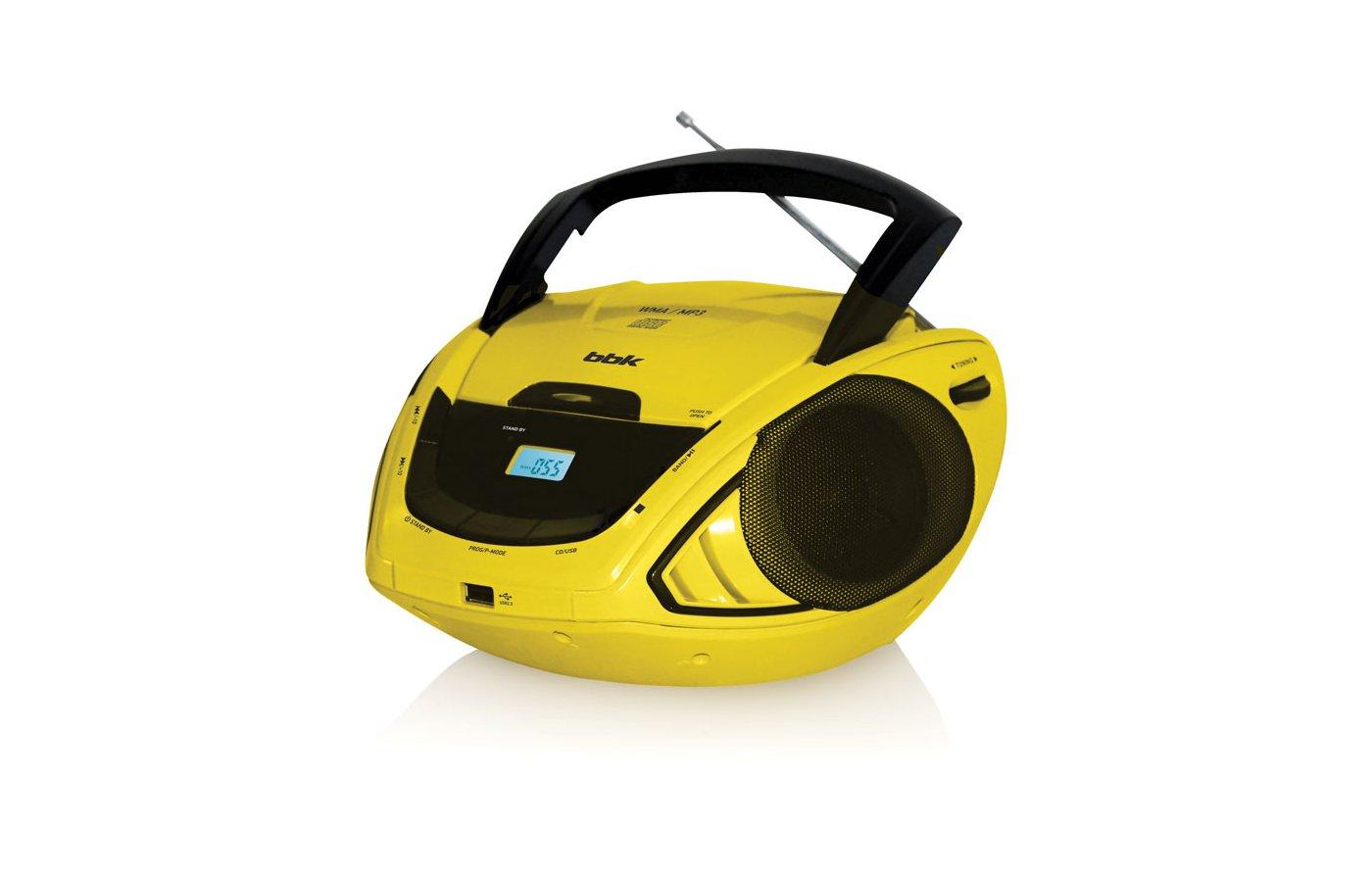 Магнитола BBK BX-190U черный/желтый