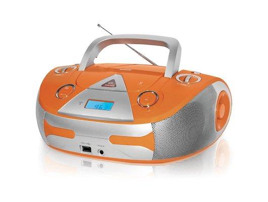 Магнитола BBK BX-325U оранжевый/серебро