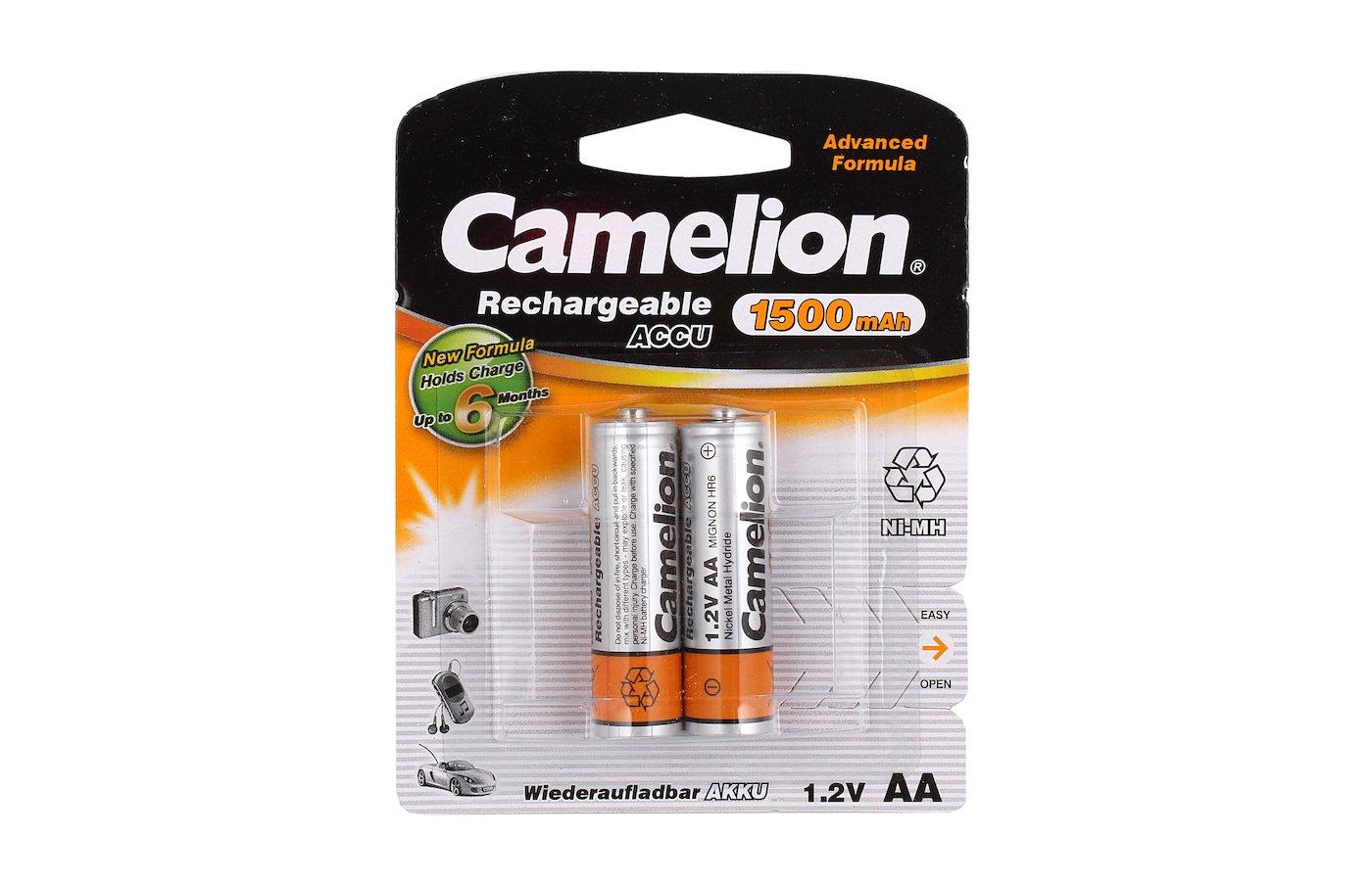 Аккумулятор Camelion AA 1500mAh Ni-Mh 2шт.