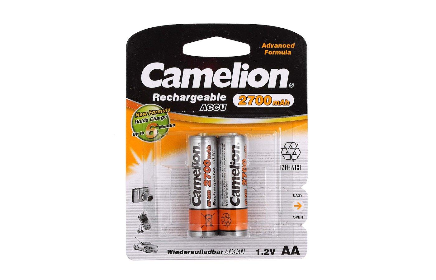 Аккумулятор Camelion AA 2700mAh Ni-Mh 2шт.