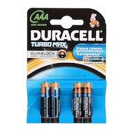 Батарейка Duracell TurboMax AAА 4шт. LR03/4BL