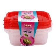 Фото Пластиковая посуда для СВЧ БЫТПЛАСТ 17142/11538 Комплект контейнеров 3шт 0.6л